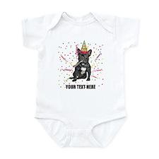 Custom French Bulldog Birthday Infant Bodysuit