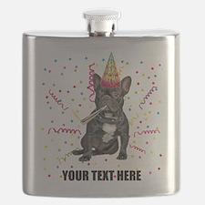 Custom French Bulldog Birthday Flask