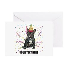 Custom French Bulldog Birthday Greeting Card