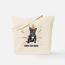 Custom French Bulldog Birthday Tote Bag