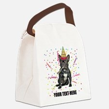 Custom French Bulldog Birthday Canvas Lunch Bag