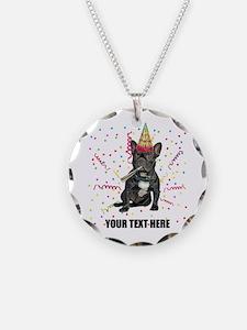 Custom French Bulldog Birthd Necklace