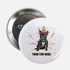 "Custom French Bulldog Birthday 2.25"" Button"
