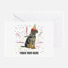 Custom German Shepherd Birthday Greeting Card