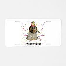 Custom Shih Tzu Birthday Aluminum License Plate