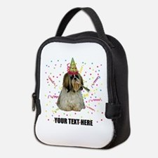 Custom Shih Tzu Birthday Neoprene Lunch Bag