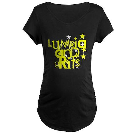 Lumpia & Grits Maternity Dark T-Shirt