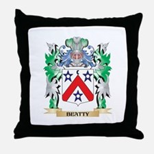 Beatty Coat of Arms - Family Crest Throw Pillow