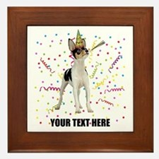 Custom Toy Fox Terrier Birthday Framed Tile