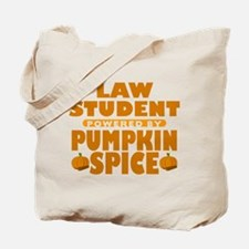 Law Student Powered by Pumpkin Spice Tote Bag