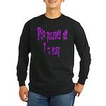 flip yourself off... Long Sleeve Dark T-Shirt