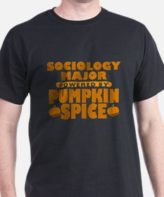 Sociology Major Powered by Pumpkin Spice T-Shirt