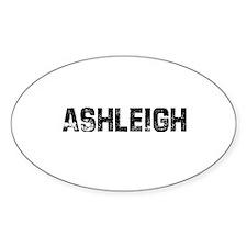Ashleigh Oval Decal
