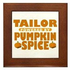 Tailor Powered by Pumpkin Spice Framed Tile
