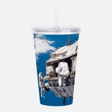 Astronauts In Space Acrylic Double-wall Tumbler