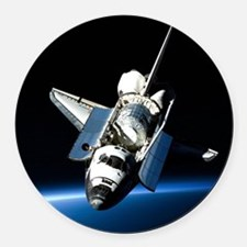 Space Shuttle Round Car Magnet