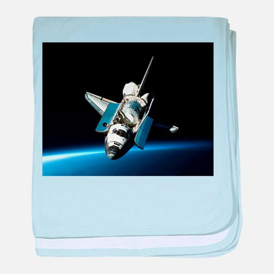 Space Shuttle baby blanket