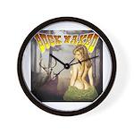 Buck naked nude hunting shirt Wall Clock