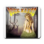 Buck naked nude hunting shirt Mousepad