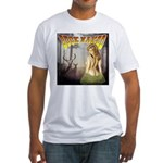 Buck naked nude hunting shirt Fitted T-Shirt