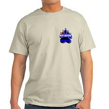LEATHER BEAR PAW/BLUE SHADOW T-Shirt