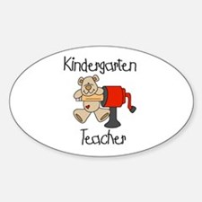 Kindergarten Teacher Oval Decal