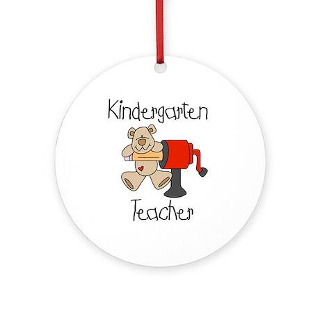 Kindergarten Teacher Ornament (Round)