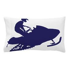 Navy-Snowmobiler.png Pillow Case