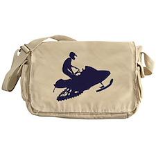 Navy-Snowmobiler.png Messenger Bag