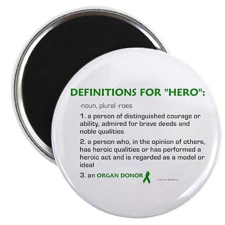 "HERO Definitions (Organ Donor) 2.25"" Magnet (100 p"
