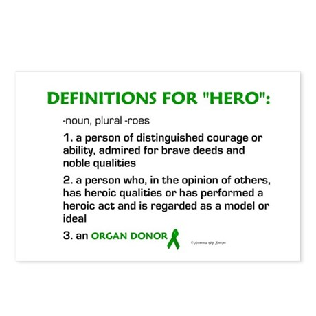 HERO Definitions (Organ Donor) Postcards (Package