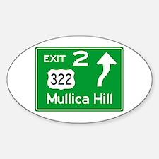 NJTP Logo-free Exit 2 Mullica Hill Decal
