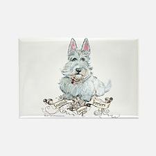 Wheaten Scottish Terrier Rectangle Magnet