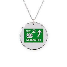 NJTP Logo-free Exit 2 Mullic Necklace Circle Charm