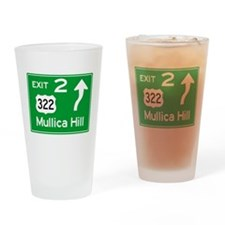 NJTP Logo-free Exit 2 Mullica Hill Drinking Glass
