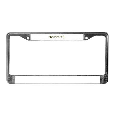 Namaste Yellow License Plate Frame