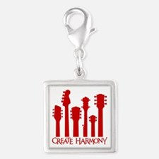 CREATE HARMONY Silver Square Charm