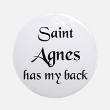 saint agnes Round Ornament