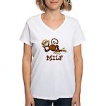 MILF Monkey Women's V-Neck T-Shirt