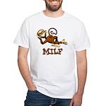 MILF Monkey White T-Shirt