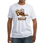 MILF Monkey Fitted T-Shirt