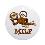 MILF Monkey Ornament (Round)