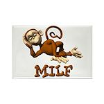 MILF Monkey Rectangle Magnet
