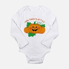 Cutest Punkin' In The Long Sleeve Infant Body