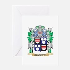 Bennetts Coat of Arms - Family Cres Greeting Cards