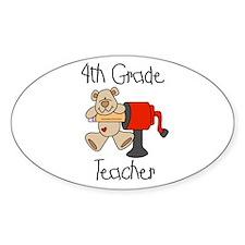 4th Grade Teacher Oval Decal