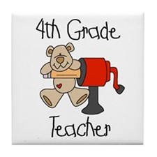 4th Grade Teacher Tile Coaster