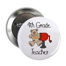 """4th Grade Teacher 2.25"""" Button (10 pack)"""