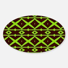 Brown and Green Trellis Pattern Decal