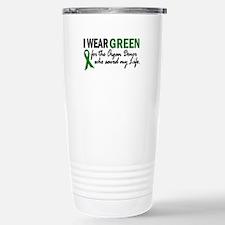 Funny Peace love life organ donation Travel Mug